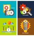 Set of flat design concepts - travel holiday vector image vector image