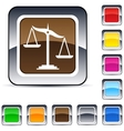 balance square button vector image vector image
