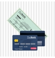 Payment with credit card design vector image