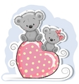 Two Cute Bears vector image