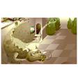 Castle Dragon vector image
