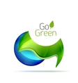Green leaf modern concept with droplet vector image