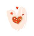 hand drawn abstract modern cartoon happy vector image