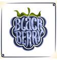logo for blackberry vector image