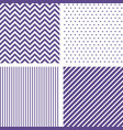 ultra violet seamless patterns chevron striped vector image
