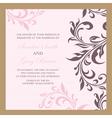 wedding invitation pink vector image vector image