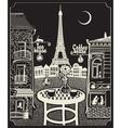 paris night cafe vector image vector image