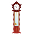 old clock in brown color vector image