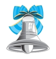 Bell and bow vector image