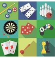 Set of game and sport icons vector image