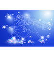 horse and stars vector image vector image