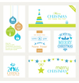 Set of flat Christmas labels vector image vector image