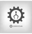 Robot industry logo vector image