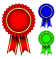 red blue and green badges vector image vector image