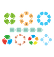 colorful set of infographics - elements vector image