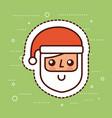 cute santa claus face smile cartoon vector image