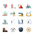 Expedition Icons Set vector image