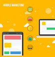 flat design mobile marketing collection vector image