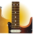 Guitar Close Up vector image