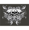 T-shirt design with skulls vector image