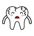 teeth character isolated icon vector image