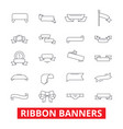 ribbon banners frame label tag bow vintage vector image