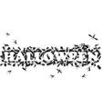 inscription of beetles Halloween vector image vector image