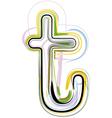 Organic Font letter t vector image
