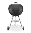 brazier for barbecue 01 vector image vector image