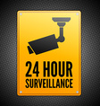 Surveillance sign vector image vector image