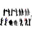 tradesmen silhouettes vector image