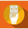 USB portable memory or cable vector image