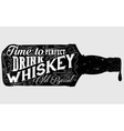 Whiskey Sign vector image