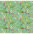Vintage Tropical Leaves in Watercolor Style vector image