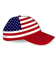 Baseball cap with USA flag on white background vector image