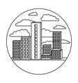 building set city landscape construction in vector image