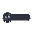 thunder bolt banner template vector image
