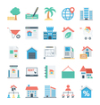 Real Estate Colored Icons 4 vector image