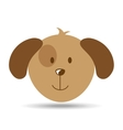 lovely head puppy dog funny vector image