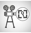 camera film vintage with movie screen search vector image