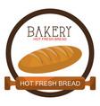 delicious bread product icon vector image