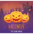 Creepy dark Halloween invitation card vector image