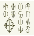 Set 2 templates of letters to create monogram vector image