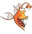 Monkfish Deep-water fish Cartoon vector image