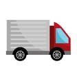 red cargo truck graphic vector image