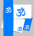 om sign template vector image vector image