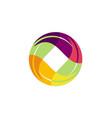 circle leaf colorful beauty logo vector image