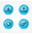 Computer signs on glossy icons vector image