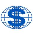 Globe and dollar vector image