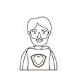 sketch contour caricature half body super hero vector image